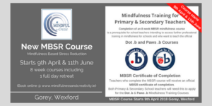 MBSR Mindfulness Training for Primary and Secondary Teachers in Wexford & Carlow
