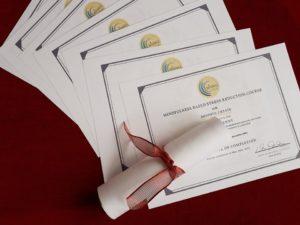 MBSR Certificates Una Keeley Mindful Create